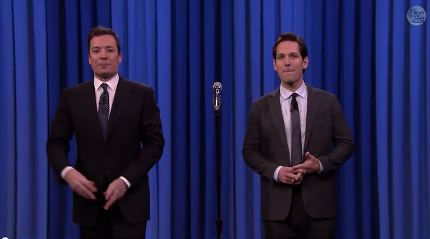 Jimmy Fallon And Paul Rudd Get Into A Lip Sync Battle