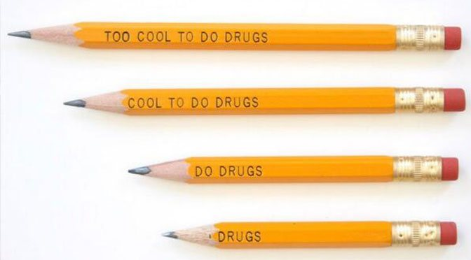 Too cool to do drugs pencils withdrawn from schools after child spotted a little problem