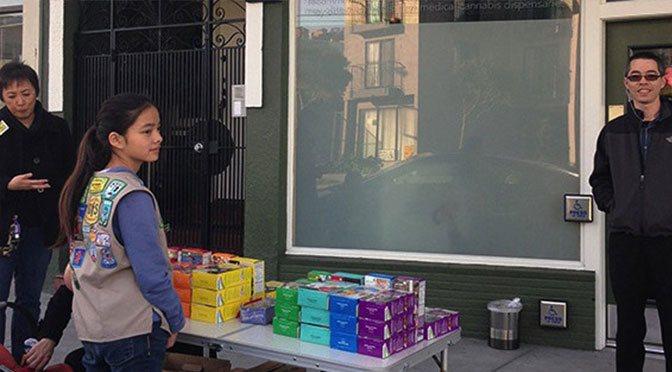Girl Scout Cookies Outside Medical Marijuana