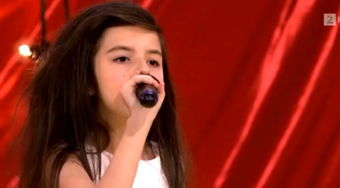 7 Year Old Girl Sings Billie Holiday Cover on Norway's Got Talent